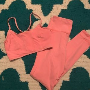 Forever 21 Neon Pink Activewear Set XS